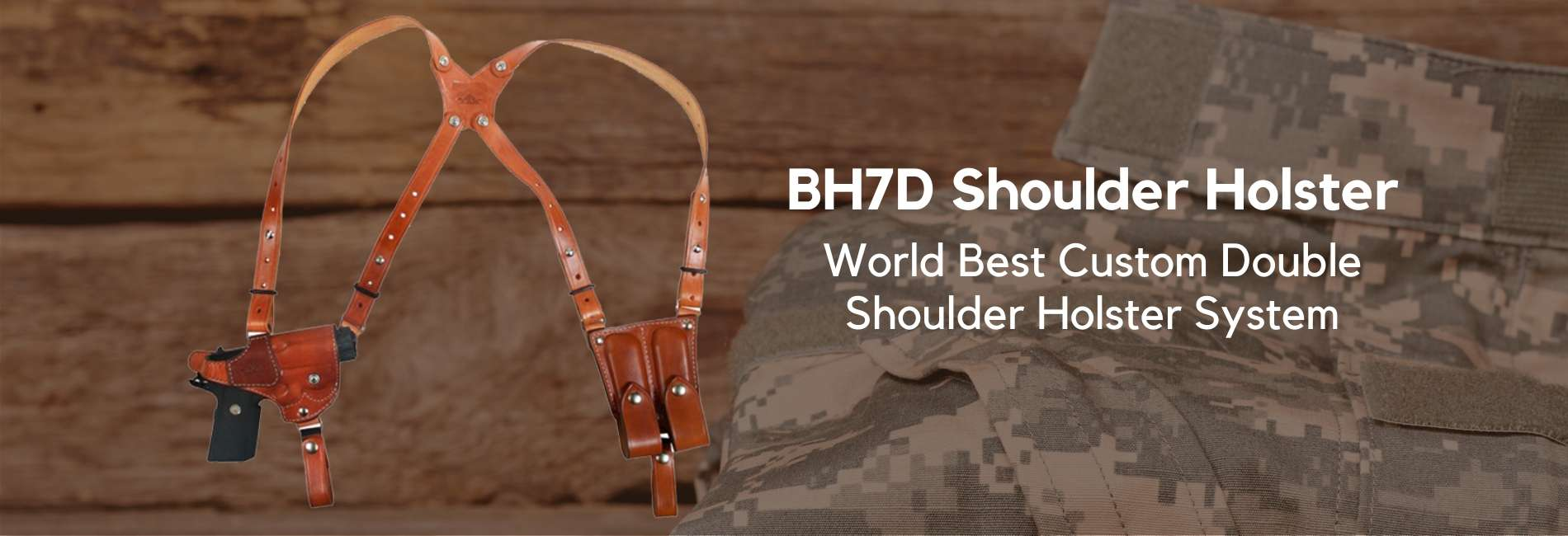 BH7D World Best Custom Shoulder Holsters Systems